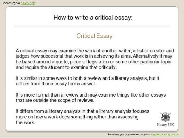 Critical writing help